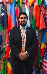 Sagar Grewal's passion for advocacy has taken him to the United Nations as a member of the Canadian youth delegation. Photos courtesy Sagar Grewal