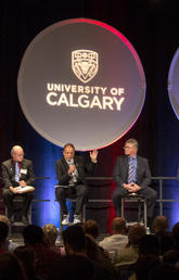 Mayoral candidates present their platforms as UCalgary played host for a mayoral debate in 2017.