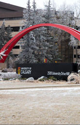 UCalgary campus in winter