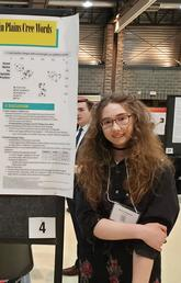 Quinn Goddard at the Students' Union Undergraduate Research Symposium