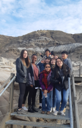 Students on an ISS trip to Drumheller