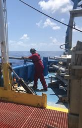 Piston Coring recovery/operations in the Gulf of Mexico off TDI-Brooks vessel R/V Brooks McCall