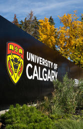 University of Calgary sign in the fall
