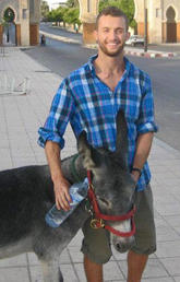 Mooshkeil the donkey and Scott Zaari became fast friends during his summer spent volunteering.