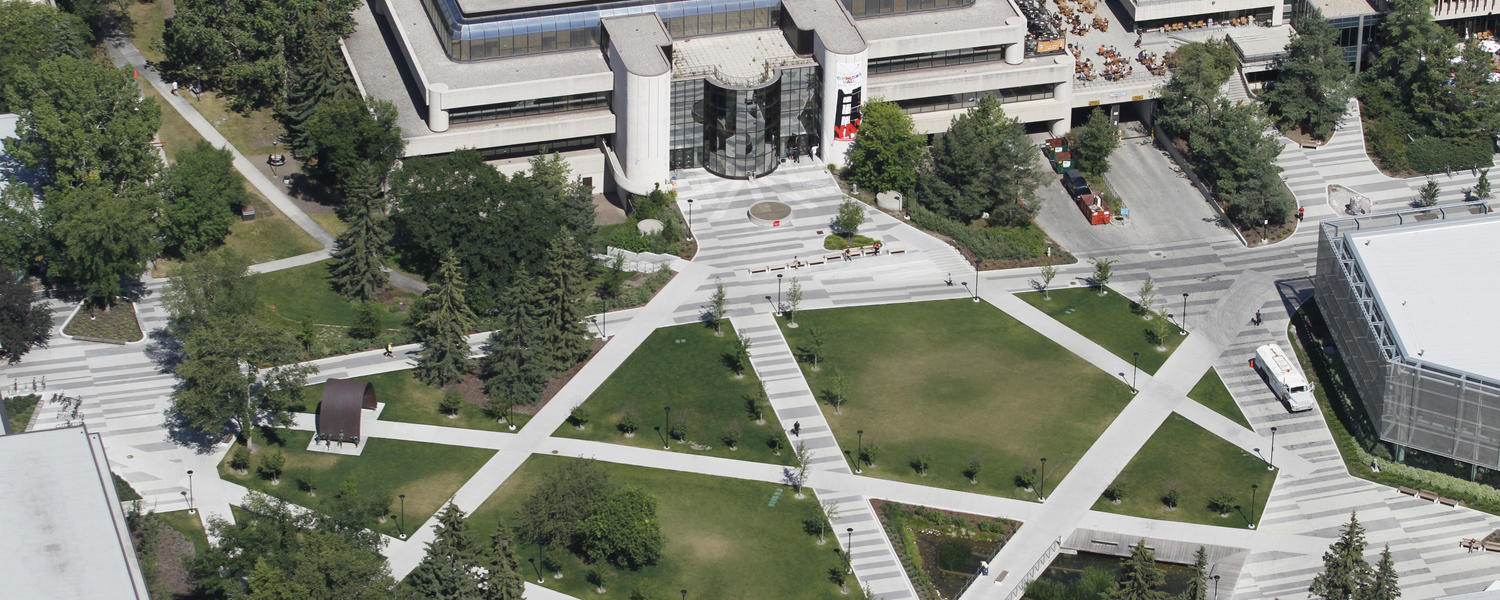 Aerial view of UCalgary campus