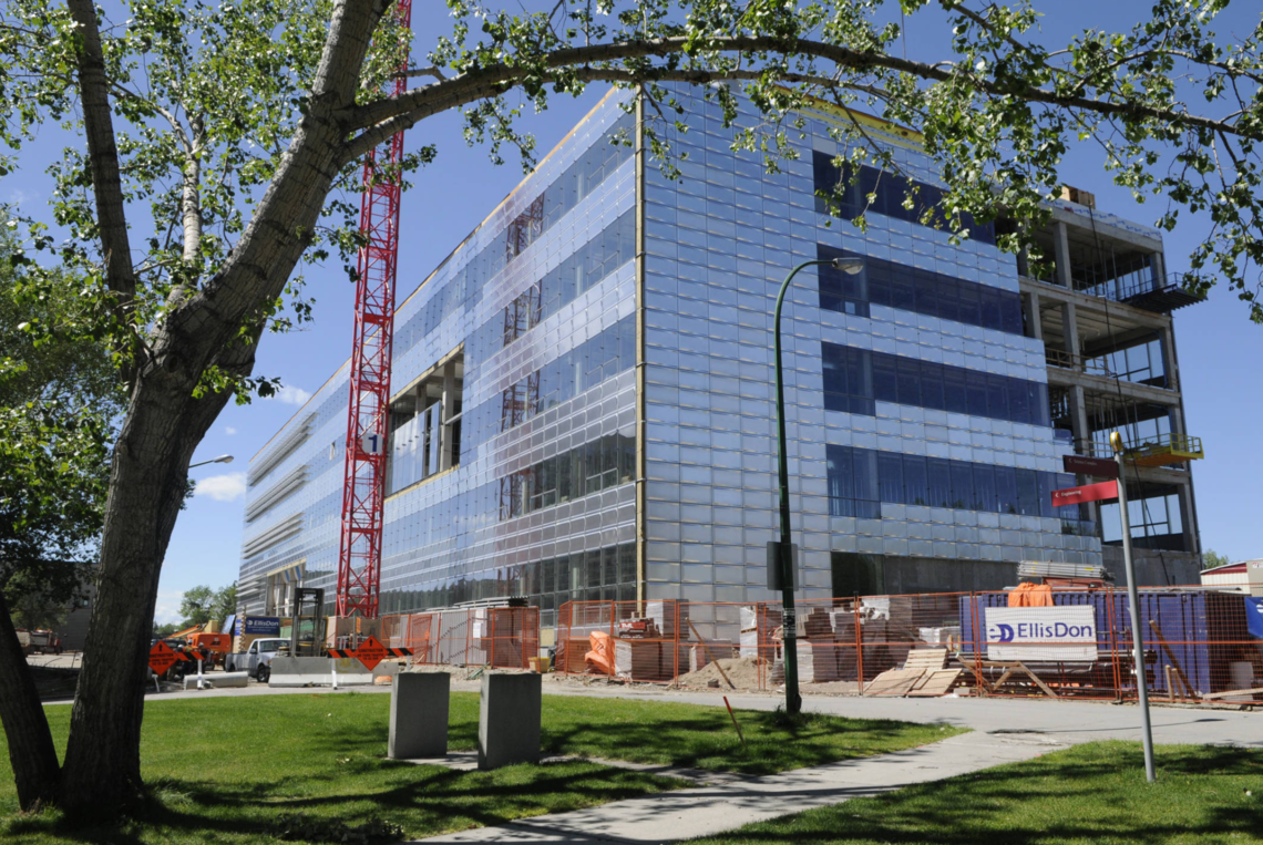 Energy, Environment and Experiential Learning Building: nearly complete exterior construction